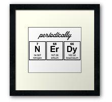 Periodically Nerdy Element Symbols Framed Print