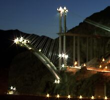 Hoover Dam Bypass Under Construction by Eleu Tabares