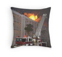 Ladder 1 at condo fire Throw Pillow
