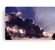 Clouds and Sun Rays Canvas Print