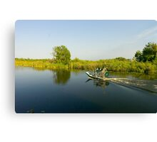 Everglades airboat Canvas Print