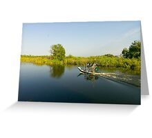 Everglades airboat Greeting Card