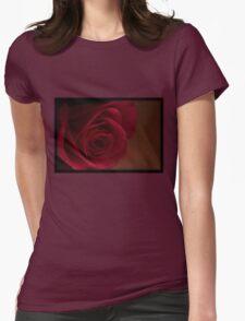 Dark Rose T-Shirt Womens Fitted T-Shirt