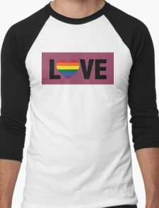 Pride Love Men's Baseball ¾ T-Shirt
