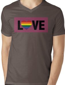 Pride Love Mens V-Neck T-Shirt