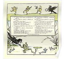 The Baby's Opera - A Book of Old Rhymes With New Dresses - by Walter Crane - 1900-31 Ye frog and Ye Crow P2 Poster