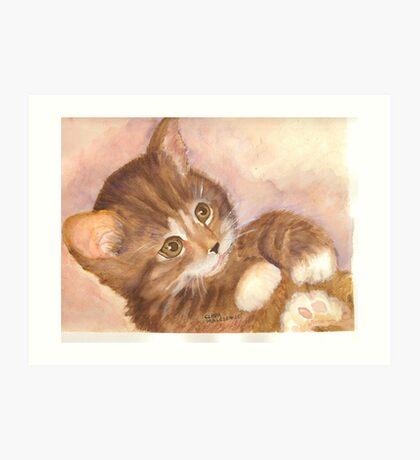 Playful Kitty Art Print