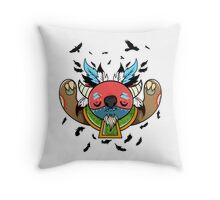 Monster Shaman Throw Pillow