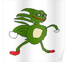 Sanic Pepe Poster