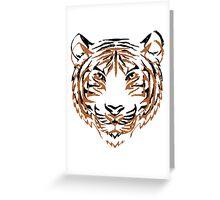 Orange & Black Tiger 2 Greeting Card