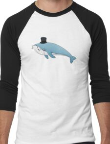 Sir whale Men's Baseball ¾ T-Shirt