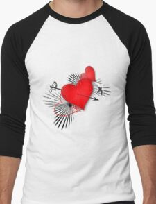 Hearts Men's Baseball ¾ T-Shirt