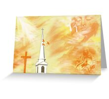 Golden Angels,  Greeting Card