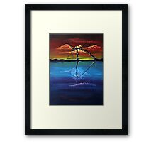 Original landscape by ANGIECLEMENTINE Framed Print