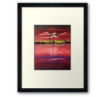 Original Pink landscape by ANGIECLEMENTINE Framed Print