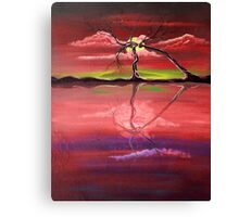 Original Pink landscape by ANGIECLEMENTINE Canvas Print