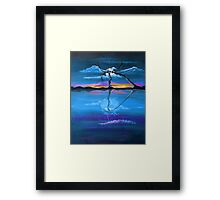 Original Blue Reflection landscape by ANGIECLEMENTINE Framed Print