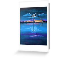Original Blue Reflection landscape by ANGIECLEMENTINE Greeting Card