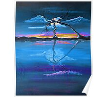 Original Blue Reflection landscape by ANGIECLEMENTINE Poster