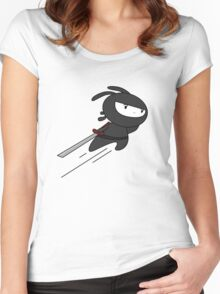 ninja bunny Women's Fitted Scoop T-Shirt