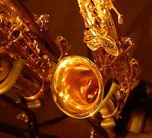 Golden Saxophones by Trev159