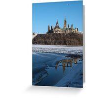 Canada Parliament Buildings Ottawa River Greeting Card