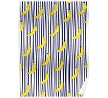 Harry Styles Stripes and Bananas Poster
