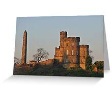 Sunset on Calton Hill - Edinburgh, Scotland Greeting Card