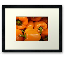 Orange Peppers Framed Print