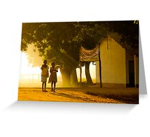 Heading to School, Mozambique Greeting Card
