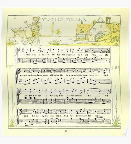 The Baby's Opera - A Book of Old Rhymes With New Dresses - by Walter Crane - 1900-38 Ye Jolly Miller Poster