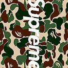 Supreme x Bape Box Logo by hypebeastly