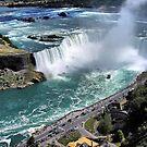 Niagara Fall from the air by terrebo
