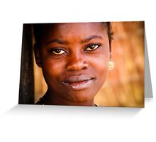 Series: Faces of Meponda, Mozambique #3 Greeting Card