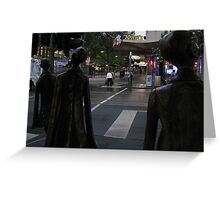 rush hour. morning, melbourne Greeting Card