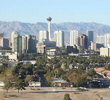 Las Vegas Skyline by Sandra Mangnall