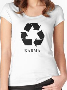 Karma <-> Women's Fitted Scoop T-Shirt