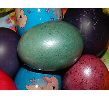 Blue Easter Egg Photographic Print