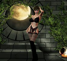 in stockings by Cheryl Dunning