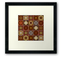 Golden Thai Crazy Quilt Framed Print