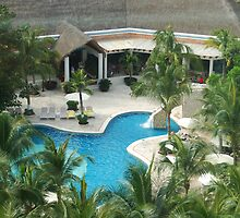 Park Royal Resort Pool on Cozumel Mexico by LenaHunt