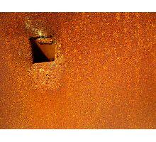 Rust Squared Photographic Print