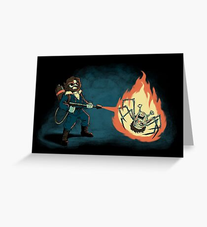 KILL IT WITH FIRE Greeting Card
