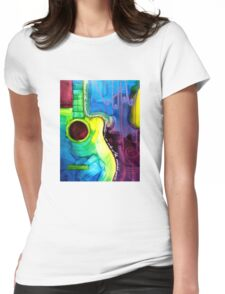 Colorful Cutaway (Heavens Echo) Womens Fitted T-Shirt