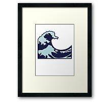 Wave Emoji Framed Print