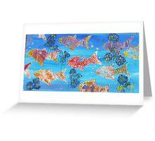 Abundant Fishes Greeting Card