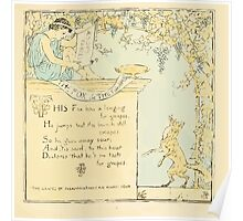 The Baby's Own Aesop by Walter Crane 1908-13 The Fox and the Grapes Poster