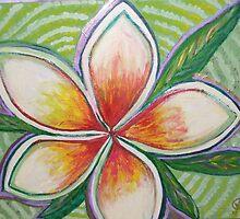 wedding frangipanis by carolinedrage