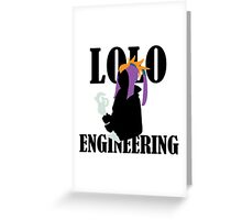 Lolo Engineering Greeting Card