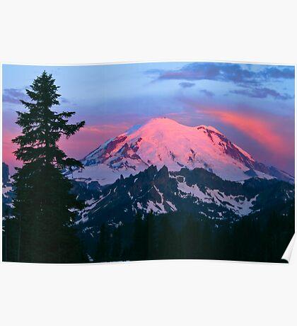 Rainier Alpenglow Poster